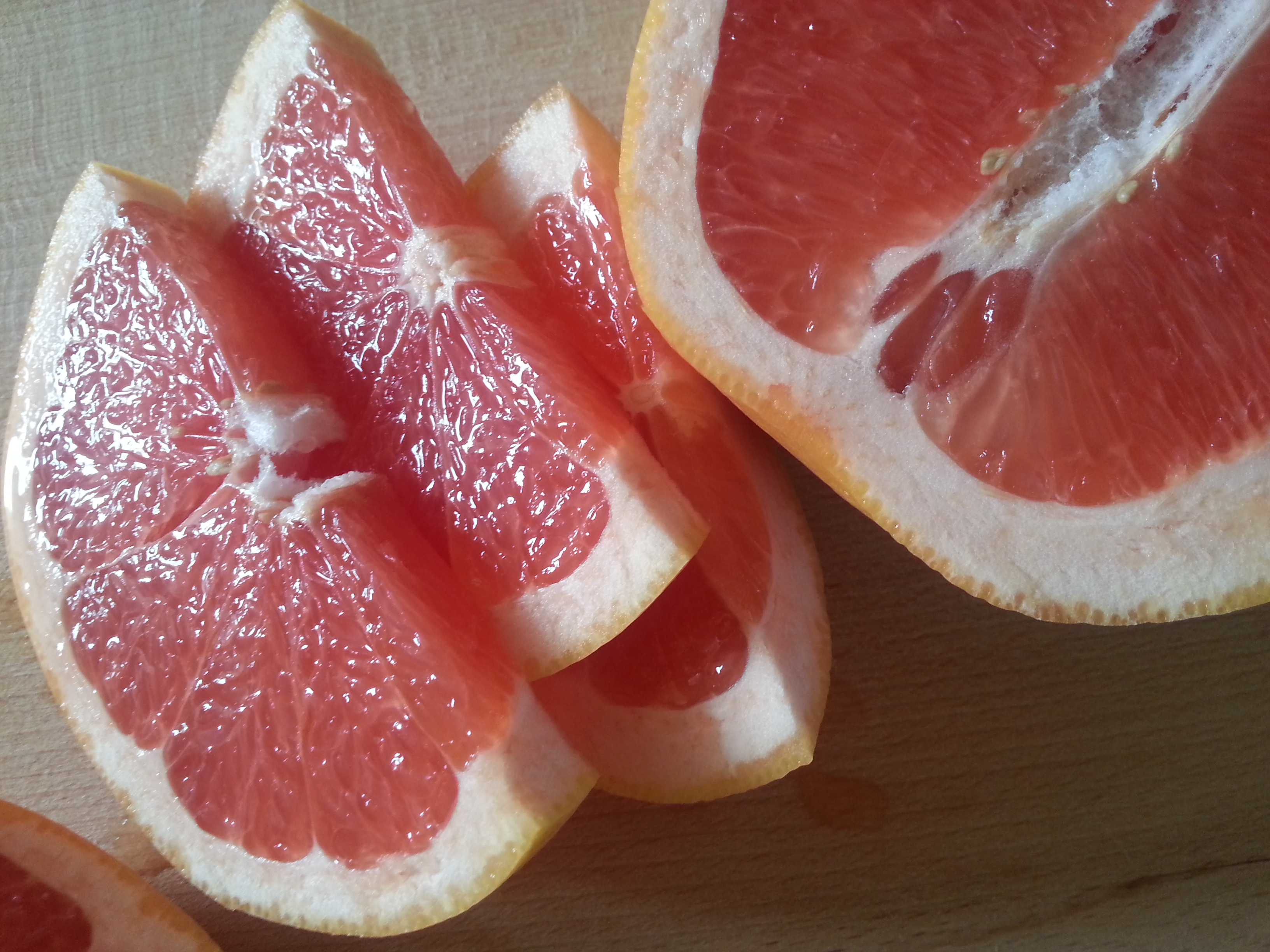 Slices or wedges are a handy way of enjoying grapefruit!