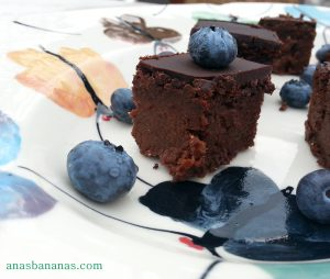 chocolate fudge brownie with beetroot and ginger