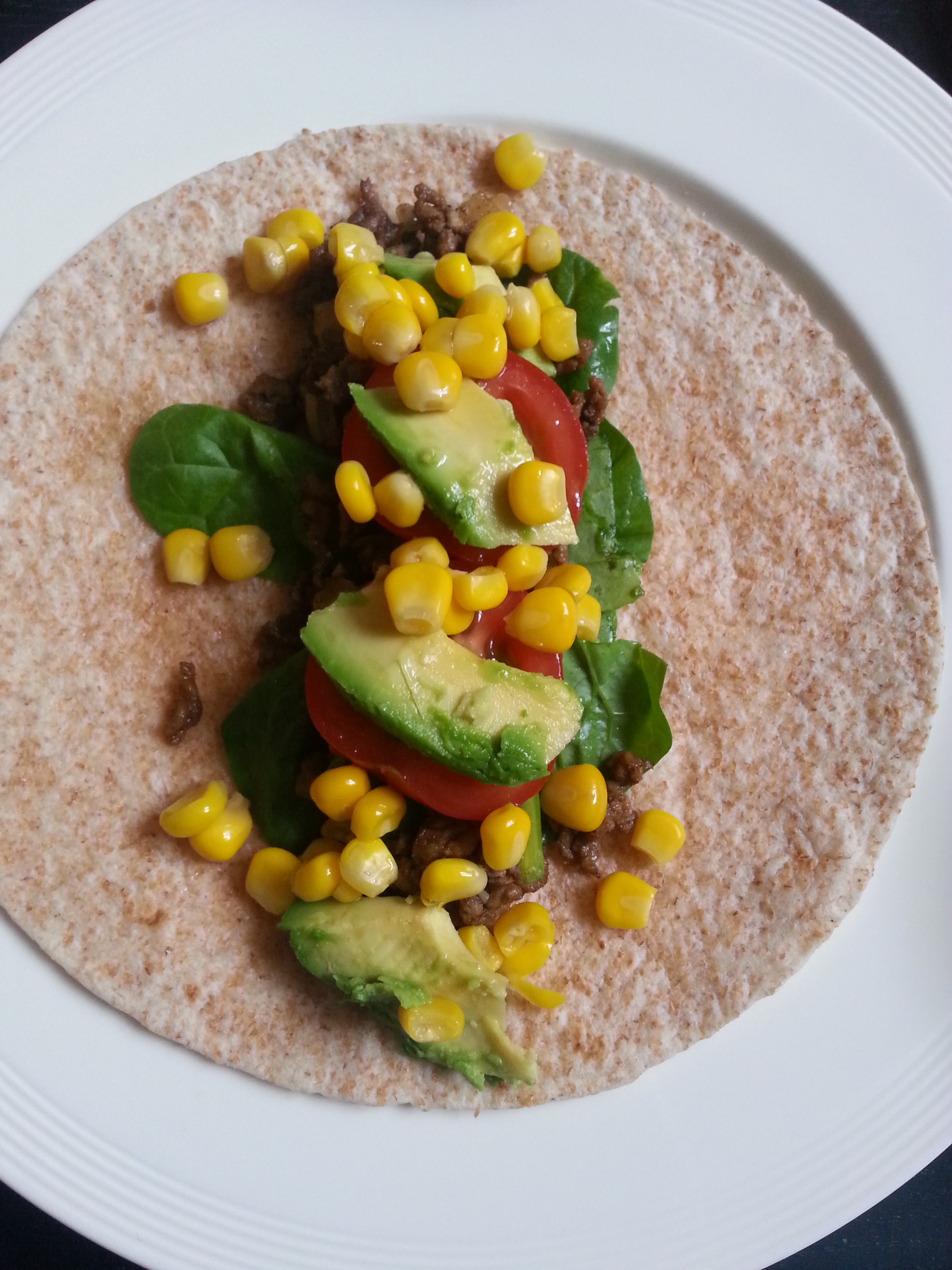 Healthy wraps with spinach Ana's Bananas Blog