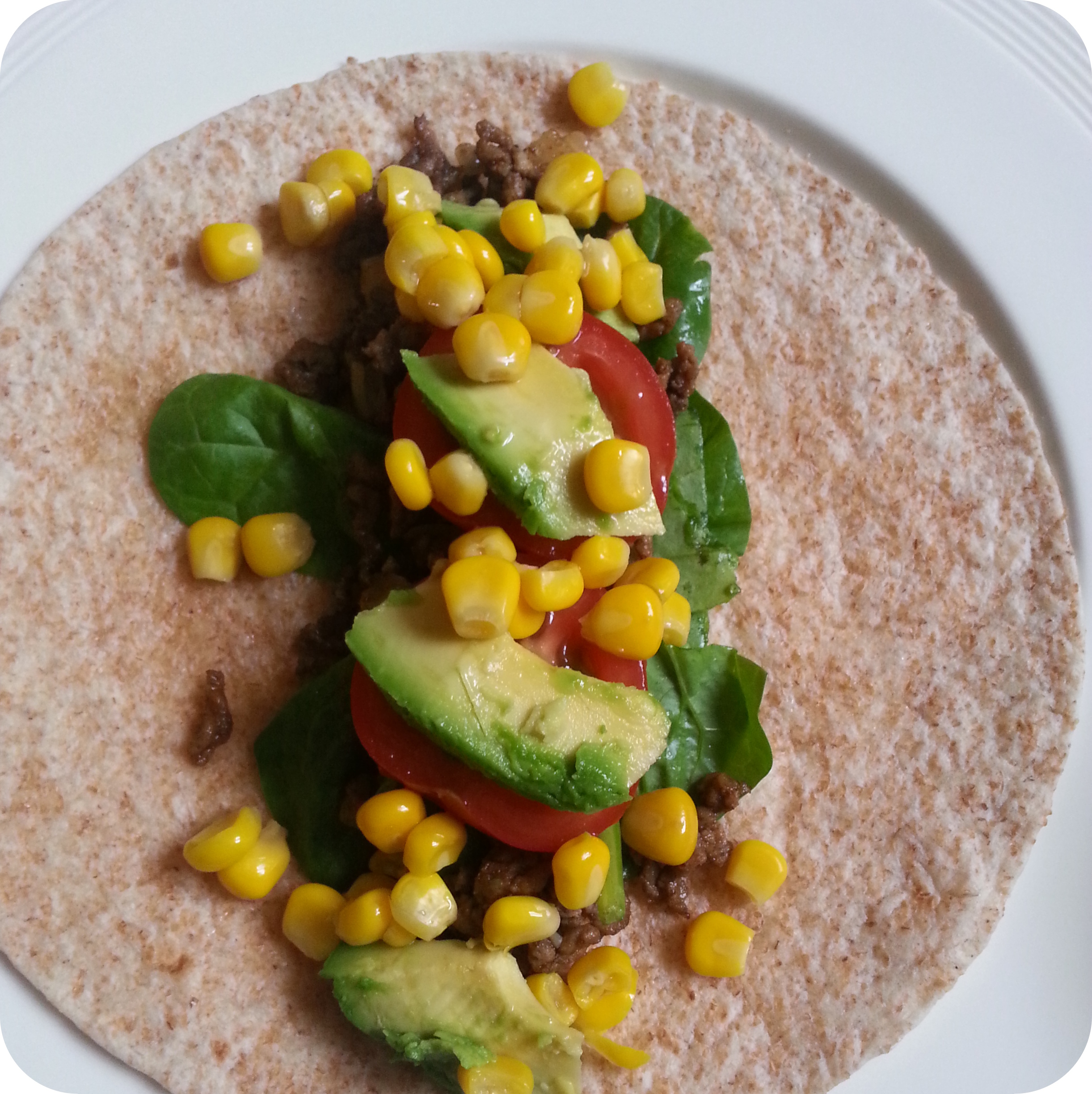 Healthy wraps with spinach and beef recipe Ana's Bananas Blog