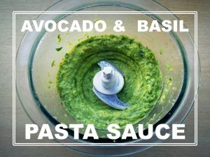 food blog avocado basil pasta sauce