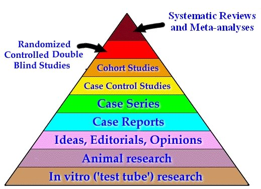 evidence pyramid, science, food blog, nutrition