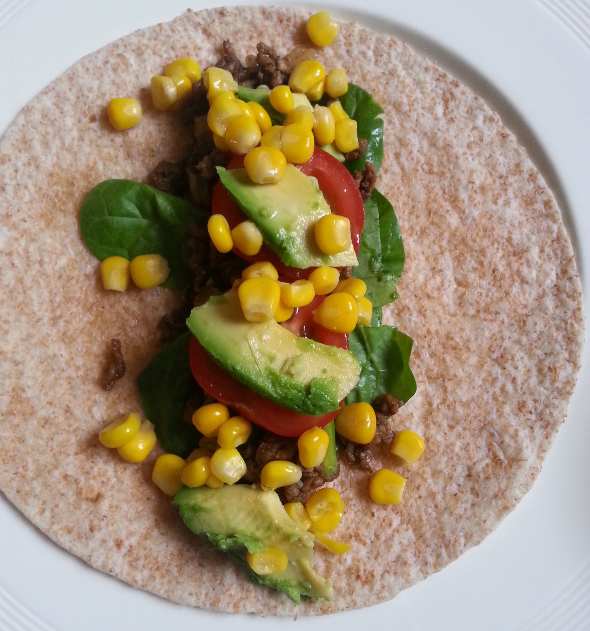mexican wrap beef corn spinach healthy low salt